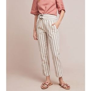 Anthropologie Oasis Striped Crop Pants NWT #1606
